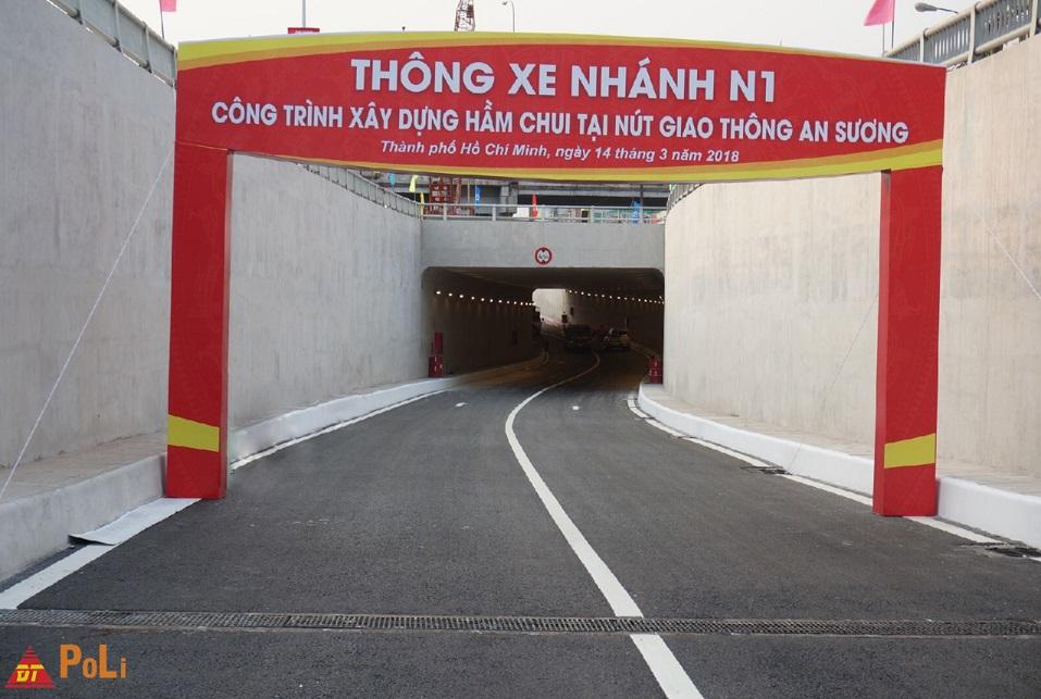 Thông xe Hầm chui An Sương Nhánh N1 14/03/2018